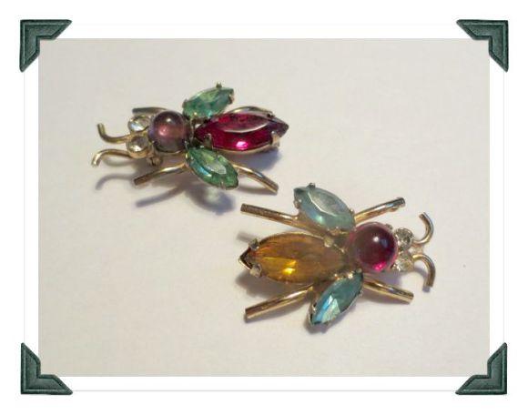 Vintage Coro bee pins