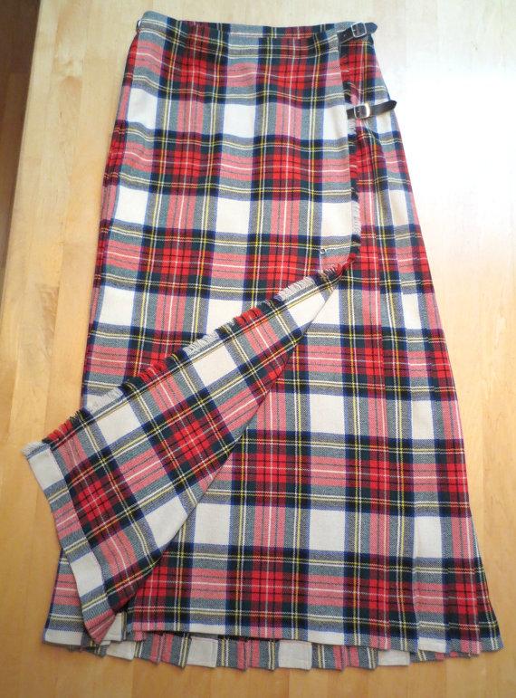 tartan-wool-skirt
